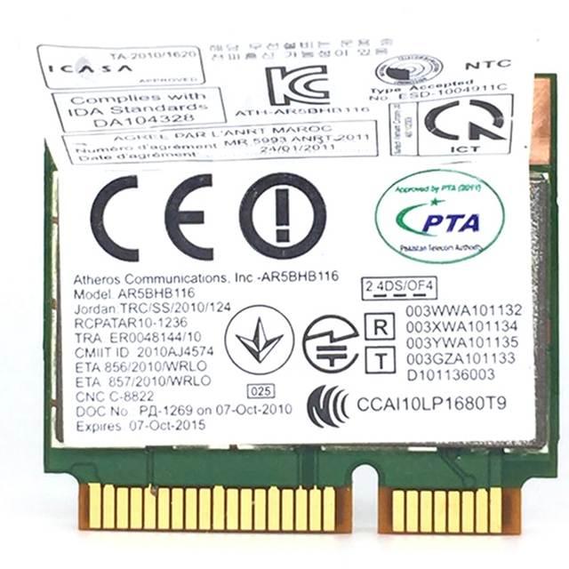 Wireless Network Card Atheros AR9832 AR5BHB116 2.4/5 GHz Single Chip 300  Mbps 802.11N MINI PCI E Wireless Card WIFI|Network Cards| - AliExpress