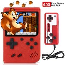 2021 novo 400 em 1 jogador de jogo mini handheld portátil retro console 8 bit built-in gameboy 3.0 Polegada cor da tela lcd caixa de jogo