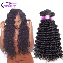 CRANBERRY Hair Remy Deep Wave Bundles Deal Can Buy 3 Or 4 Pcs/Lot Peruvian Hair