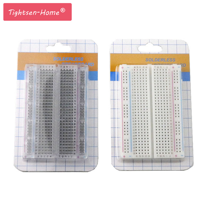 20PCS Mini bread board/breadboard 8.5cm x 5.5cm 400 holes Transparent/White DIY Electronic experimental Universal PCB QualityConnectors   -