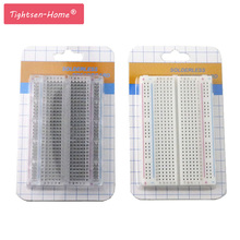 20PCS Mini bread board/breadboard 8.5cm x 5.5cm 400 holes Transparent/White DIY Electronic experimental Universal PCB Quality