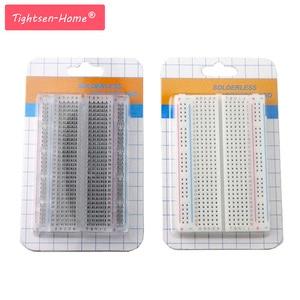 Image 1 - 20PCS Mini brot bord/breadboard 8,5 cm x 5,5 cm 400 löcher Transparent/Weiß DIY Elektronische experimentelle universal PCB Qualität