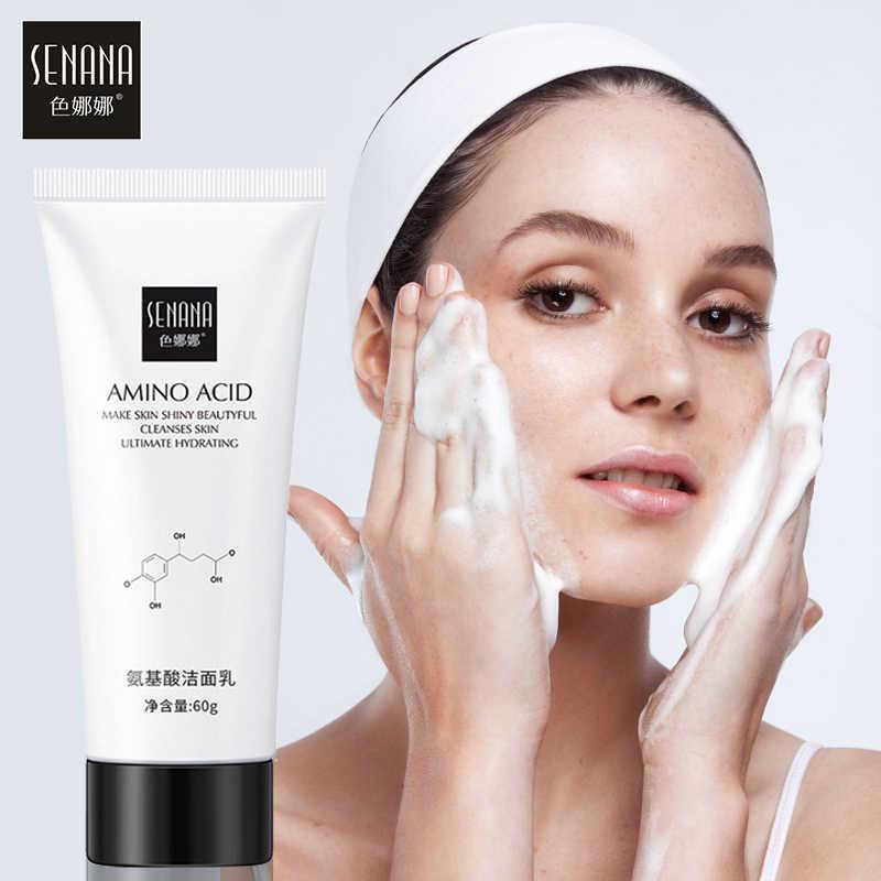 SENANA Nicotinamide Amino asit yüz temizleyici yüz fırçalayın temizlik akne yağ kontrolü siyah nokta Remover gözenekleri küçültmek cilt bakımı