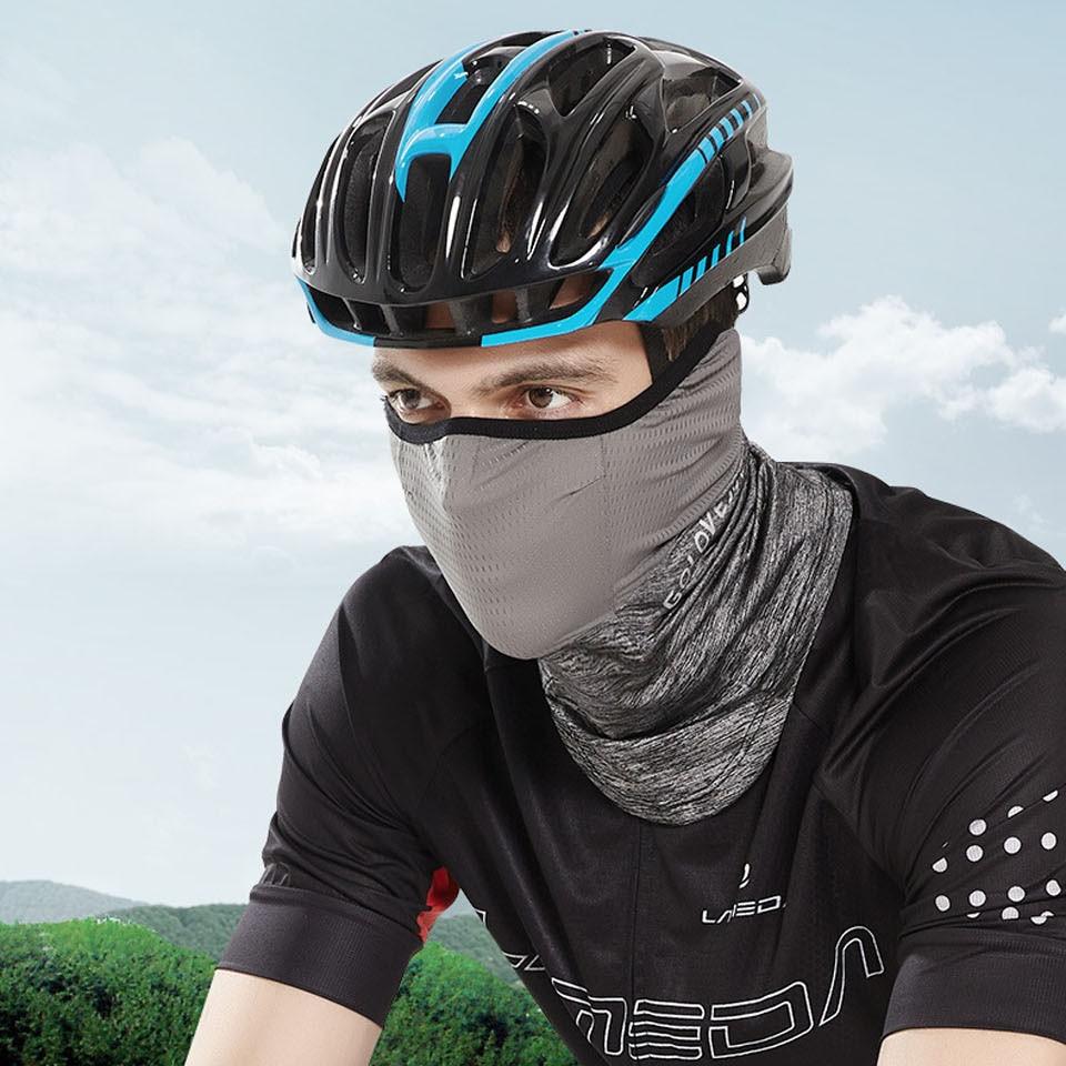 Summer Black Caps  Running Scarf Anti-UV Headwear Bicycle Bandana Sports Fishing Mask Cover Magic Scarf ice silk 2