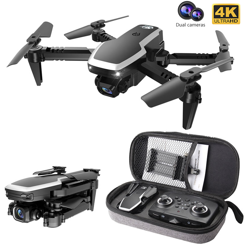 S171 Pro Fpv Mini Drone 4k HD Dual Camera Altitude Hold Coreless Motor Wifi 2 4G RC Quadcopter Foldable Drones With Cameras Dron