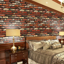 vinyl block stone brick modern wallpaper 3d feature blue purple brown black and white geometric wall paper living room office Simulation Stone Brick Wallpaper Living Room Wardrobe Bedroom Self Adhesive Contact Paper PVC Background 3D Wall Paper