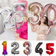 30 40 polegada número da folha de alumínio balões decoração festa de aniversário casamento aniversário dia dos namorados balões de hélio suprimentos