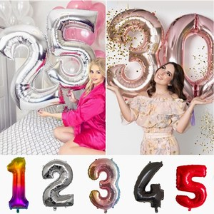 30 40 inch Aluminum foil number Balloons Decoration Birthday Party Wedding anniversary Valentine's day helium balloons supplies