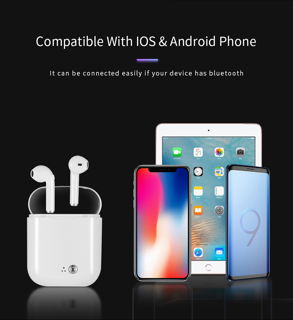 i7s tws Wireless Earphone quality sound in ear Headset Cordless Bluetooth Headphones Charging box For Iphone Xiaomi Redmi Huawei