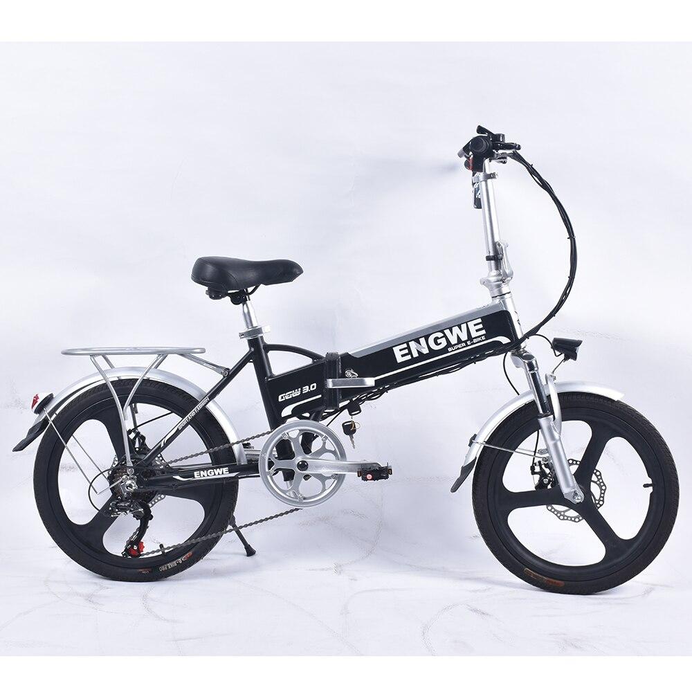 Электрический велосипед engwe EGW 320 м, 20 дюймов, алюминиевый сплав, 48 В/8Ah, 250 Вт, 25 км/ч, 6 скоростей, бесщеточный Электрический велосипед с дисплее...