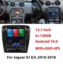 Radio Multimedia con GPS para coche, Radio con reproductor de vídeo estéreo, MP3, Tesla, pantalla de 12,1 pulgadas, Android 10,0, NAVI, Para Jaguar XJ, XJL