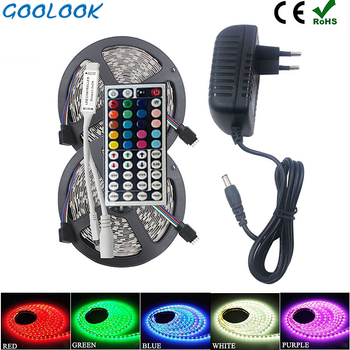 5050 LED Strip RGB 5M 10M RGB Color Changeable Flexible LED Light Tape + Remote Controller + DC12V Power Adapter AU/US/EU/UK