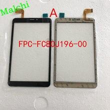 Panneau d'écran tactile pour PC Mediacom 8,0, FPC-FC80J196-00 blanc, pièces de rechange, capteur en verre