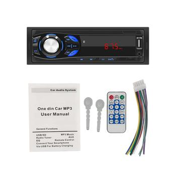 Car Radio Single 1 DIN Stereo MP3 Player Bluetooth AUX-in Head Unit Digital Media Receiver Touch Screen