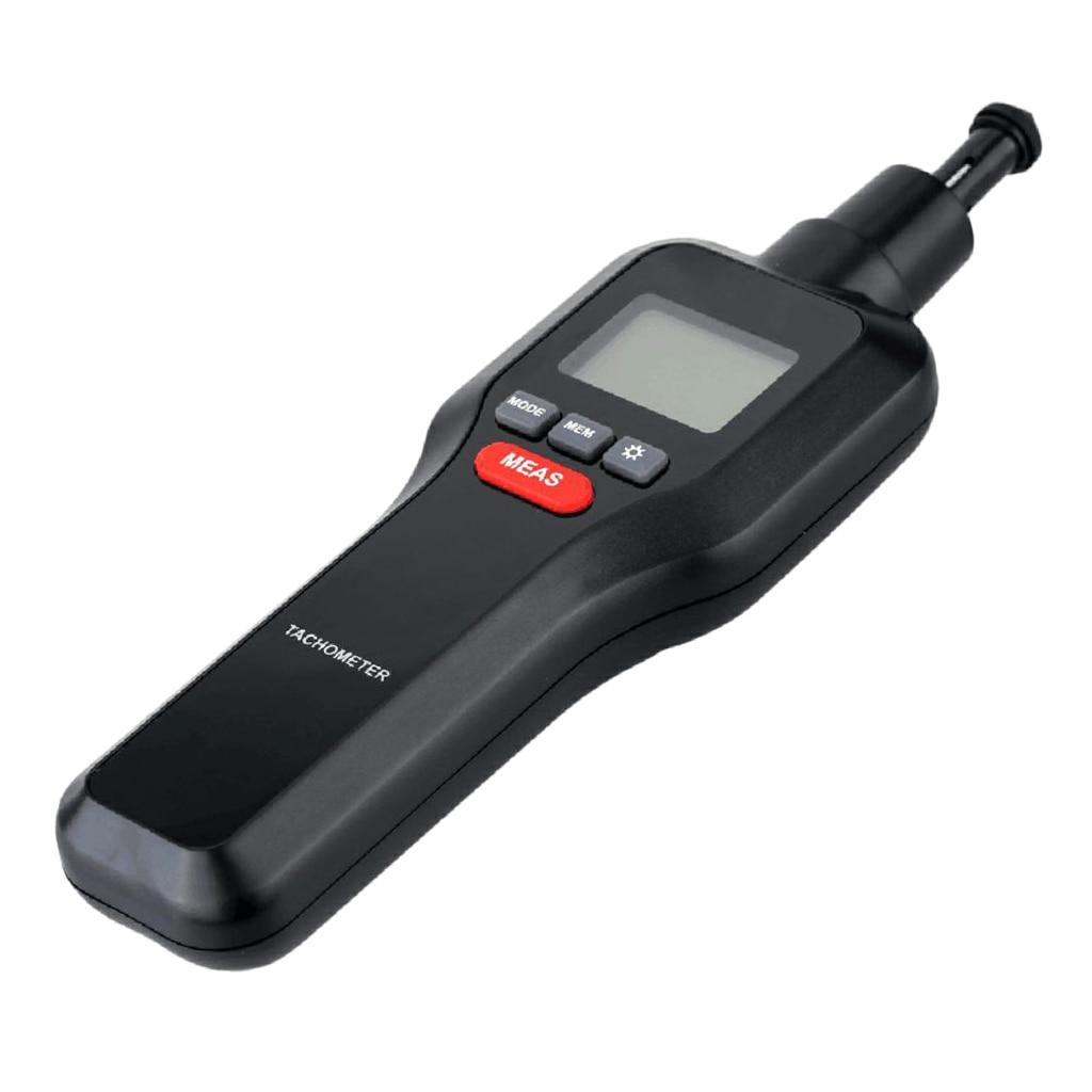 Tachymètre numérique portable Contact sans Contact 2-99999 tr/min écran LCD