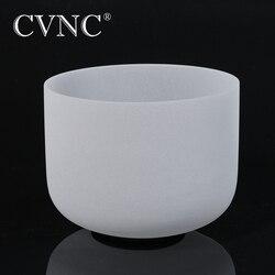 CVNC 10 Chakra Hinweis CDEFGAB Frosted Quarz Kristall Singen Schüssel