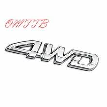 Décalcomanie 3D en métal chromé 4x4 pour coffre arrière de SUV, autocollant de voiture tout-terrain pour Toyota Highlander RAV4 Tiguan Honda