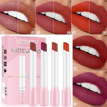 Creative Cigarette Lipstick Set 4 Colors Matte Lips Long Lasting Waterproof Matt Lip Stick Tube Nude Velvet Red Lip Tint Makeup недорого