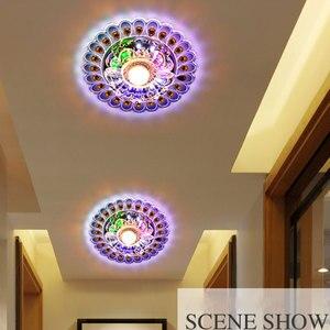 Image 5 - Lampada moderna del candeliere del soffitto del pavone del salone di illuminazione della luce principale di cristallo per illuminazione domestica della decorazione luce variopinta