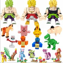 Animes Legoing Cartoon Children Set Anime Figures Figure Cat Blocks Baby Gifts Movies Kids pony Toy Story 4 Dragon Ball Legoings(China)