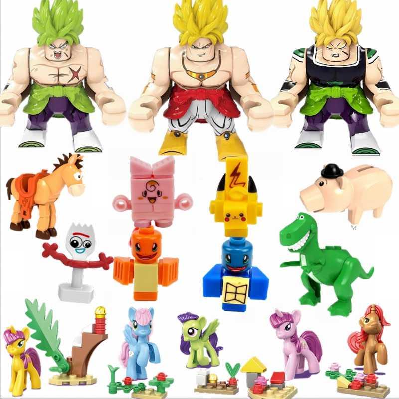 Animes Legoing Crianças Dos Desenhos Animados do Anime Figuras Figura Gato Blocos de Filmes Presentes Do Bebê Dos Miúdos pony Toy Story 4 Bola Dragão legoings