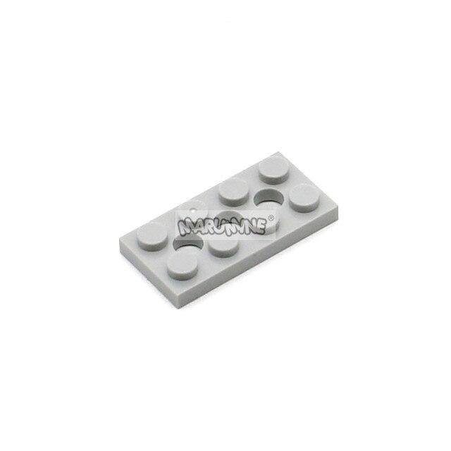MARUMINE 2x4 Smartable Technic Plate Bricks with Hole 100PCS Building Blocks MOC Parts DIY Toys Compatible 3709b Technic Toy