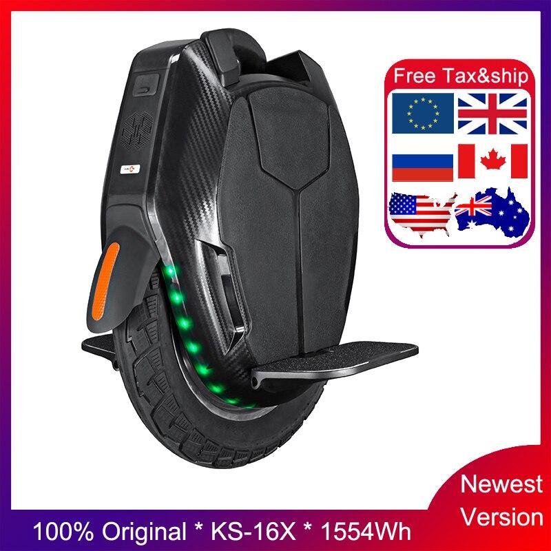 Orignal KS-16X 1554wh monocycle électrique plus long kilométrage simple roue 2200W moteur 1554wh batterie vitesse 50 km/h double charge