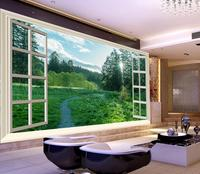 beautiful scenery wallpapers green wallpapers flowers sunlight forest nature TV background wall outside the window