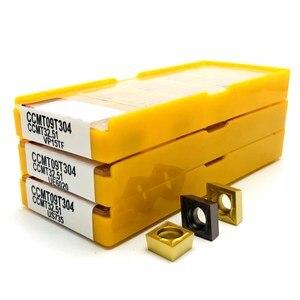 Image 2 - كربيد إدراج CCMT09T304 VP15TF UE6020 US735 المعادن تحول أداة أدوات مخرطة أداة الوجه قاطعة المطحنة CCMT 09T308 أداة التصنيع باستخدام الحاسب الآلي