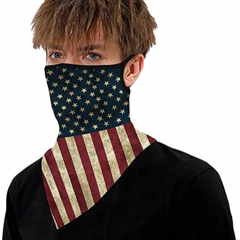 Yeni Unisex Bandana kulak döngüler ile eşarp kadın erkek boyun körüğü yüz Balaclava bayrağı leopar baskı rüzgar geçirmez yaz moda eşarp