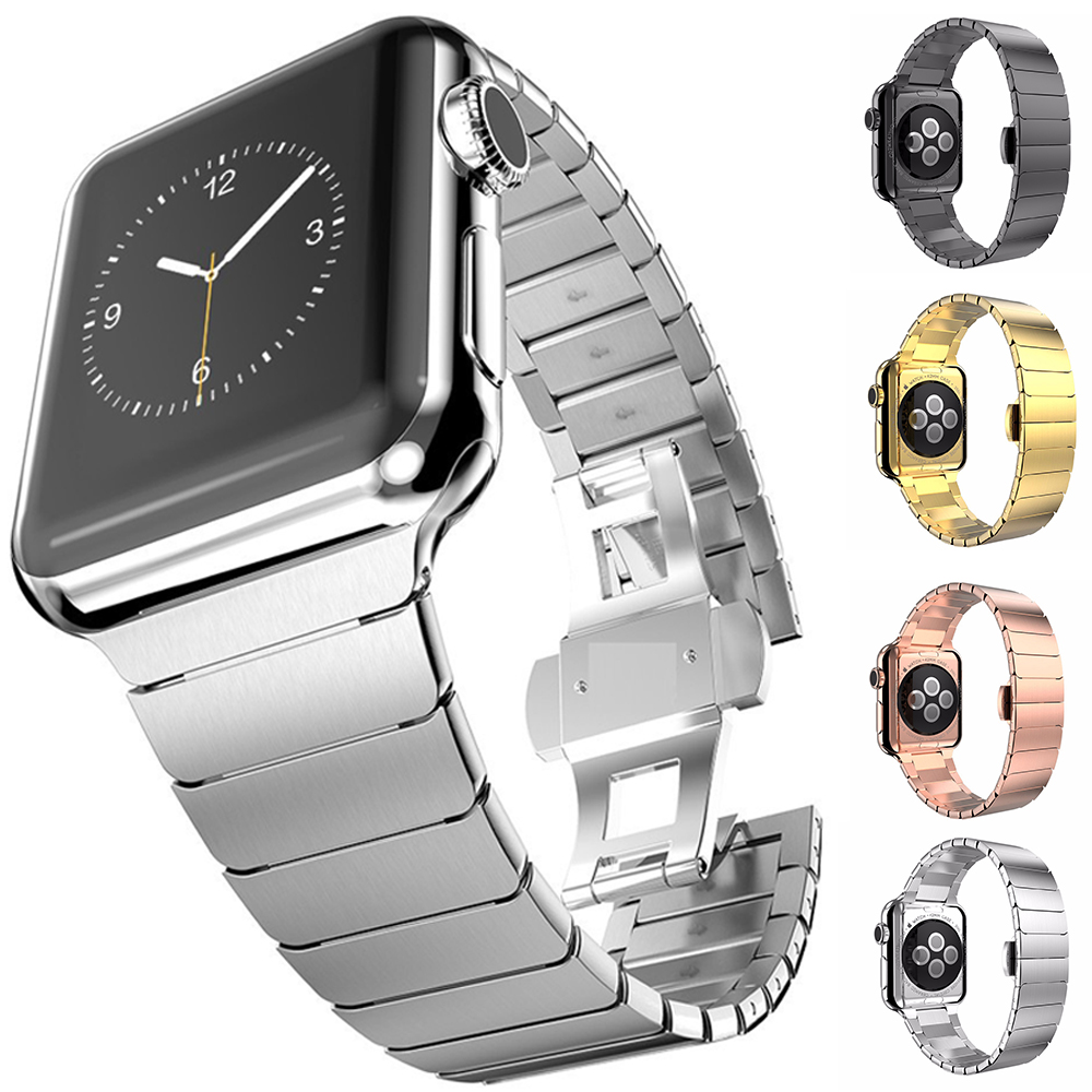 38 40mm 42 44mm Watch Strap For Iwatch Stainless Steel Band For Apple Watch Series 5 4 3 Link Loop Band Band Link Bracelet Strap