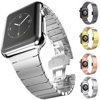 38 40mm 42 44mm zegarek pasek do iwatch pasek ze stali nierdzewnej do zegarka Apple watch Series 5 4 3 Link taśmy sportowe pasek pasek do bransoletki łączonej