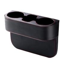 Органайзер для автомобильных сидений, карман-наполнитель с кожаным чехлом, портативный универсальный многофункциональный автомобильный держатель для чашек, Клинообразная сумка