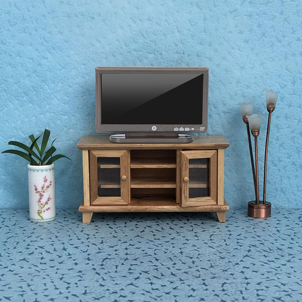 <font><b>1</b></font>:<font><b>12</b></font> Doll House TV Remote Control Simulation Miniature Furniture Dollhouse Living Room Decoration Television image