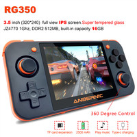 RG350 Handheld Game Console 3.5 inch Full View IPS Screen 3000+ games ps1 game 64bit opendingux 16 Emulators Retro Game Player