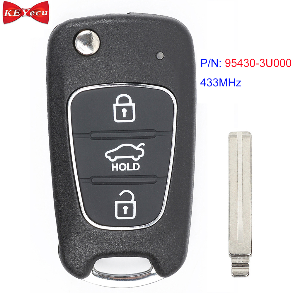 KEYECU for <font><b>Kia</b></font> <font><b>Sportage</b></font> 2010 <font><b>2011</b></font> 2012 2013 2014 Upgraded Remote Car <font><b>Key</b></font> Fob P/N: 95430-3U000 433MHz ID46 Chip image