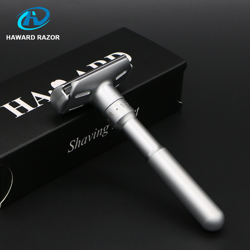 HAWARD Razor Men's Safety Razor Adjustable Double Edge Razor Classic Manual Shaver For Shaving&Women Hair Removal 10 Blades