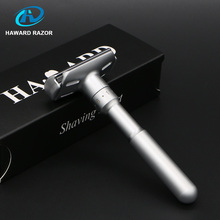 Haward Razor Men's Safety Razor Adjustable Classic Double Edge Shaver Manual Silver Shaver For Shaving With 10 Gift Blades