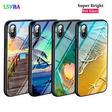Black Cover The Sea Waves Beach for iPhone X XR XS Max for iPhone 8 7 6 6S Plus 5S 5 SE Super Bright Glossy Phone Case iphone 6s slim case sea waves