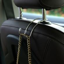 1PC Car Seat Headrest Hanger Bag Hook Holder Auto Fastener Clip Multi-functional Metal Car Seat Back Hooks
