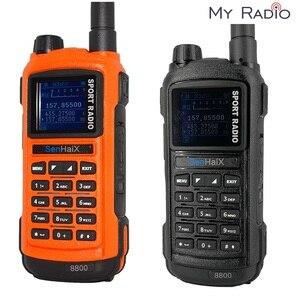 Image 1 - SENHAIX Walkie Talkie Bluetooth GP8800 ham, impermeable, TPU, Bluetooth, programación, transceptor con reflejos LED