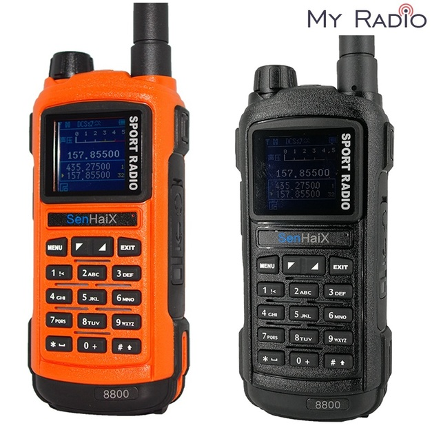 SENHAIX Walkie Talkie Bluetooth GP8800 ham, impermeable, TPU, Bluetooth, programación, transceptor con reflejos LED