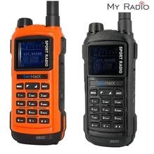 Senhaix walkie talkie gp8800 ham, bluetooth, programação à prova d água, transmissor de reflexo led