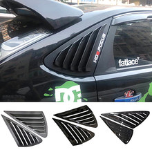 Triangle louver shark gill shaped rear window decorative window vent for Ford Focus MK2 rs500 hatchback
