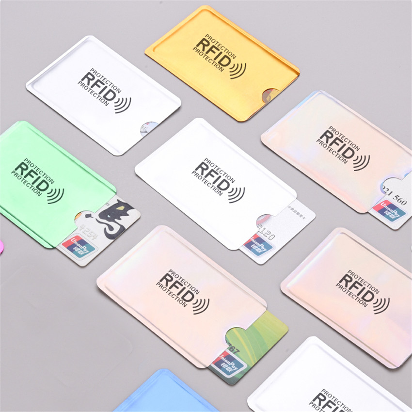 10pcs/set Anti-magnetic RFID Credit Card Sleeve Anti-theft Anti-Scan Card Sleeve Protection Card Holder Sleeve Credit Card Cover