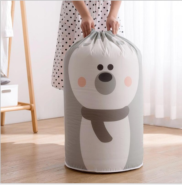 Large Home Clothes Quilt Drawstring Bags Eco Reusable Packing Organizer Cartoon Waterproof  Storage Bags