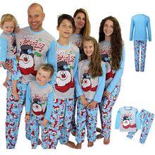 Рождественская семейная сочетающаяся одежда пижамный комплект