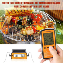 Wireless remote BBQ Thermometer Dual Probe Digital Cooking Meat Food Oven new