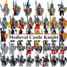 single sale ABS Medieval Castle Roman Knight Armor Skeleton Egypt Egipto The Lord of the Rings Figure Building Block Brick action model girls Toys Gift for children BR248(China)
