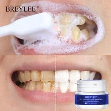 BREYLEE-Polvo para blanquear los dientes, pasta Dental para eliminar las manchas de placa, herramientas dentales, higiene bucal, limpieza de cepillo de dientes blanco 30g